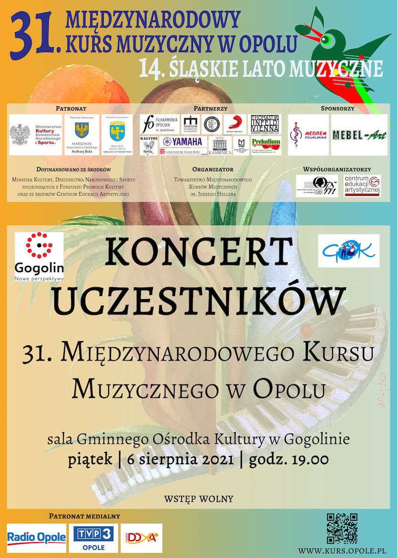 Koncert Uczestników 31. Międzynarodowego Kursu Muzycznego